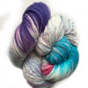 Araucania Huasco Sock Hand Paint - Andean Condor 1008 - Wowsa!   Bright turquoise, intense violet and fuschia all wrapped around natural.