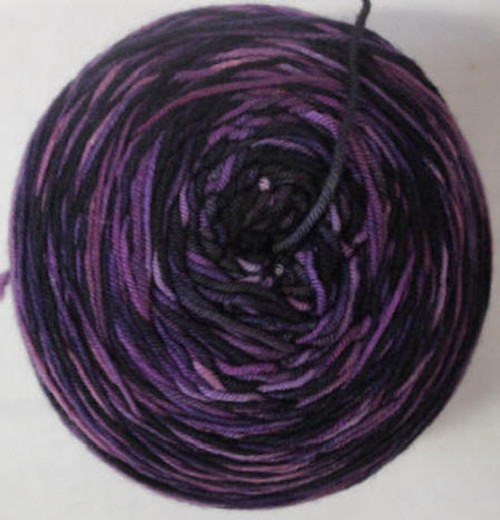 Done Roving Frolicking Feet DK Monochromatic Deep Purple