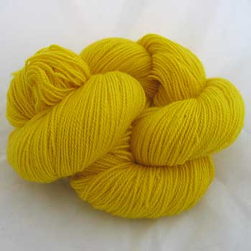 Frolicking Feet Canary Yellow 100% SUPERWASH Sock Wool 480 yards