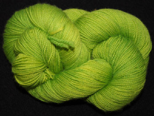 Done Roving Yarn - Frolicking Feet - Chartreuse