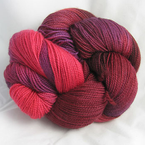Done Roving Yarn - Frolicking Feet - Garnets & Rubies