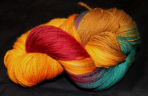 Done Roving Yarn - Frolicking Feet - Wild Pheasant
