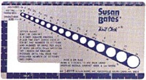 Susan Bates Needle Gauge: Knit Chek #14099