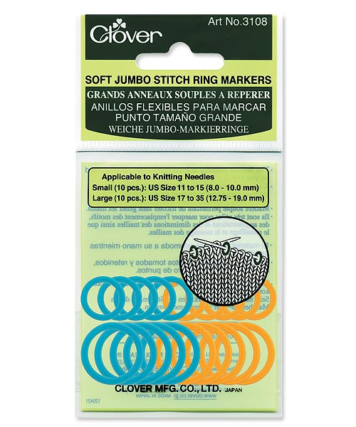 Clover Soft Jumbo Ring Markers (20) #3108