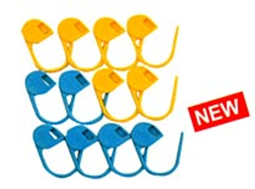 Clover Jumbo Locking Stitch Markers (12) #3109