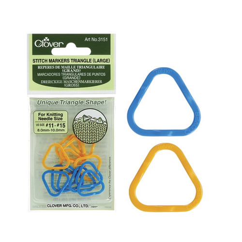Clover Large Triangle Stitch Markers #3151