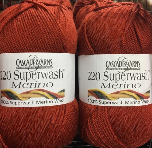 Cascade 220 Superwash Merino Yarn - 06 Burnt Orange