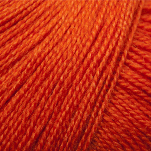 Gorgeous Pumpkin Orange, silk and merino blend, in a lace weight yarn.