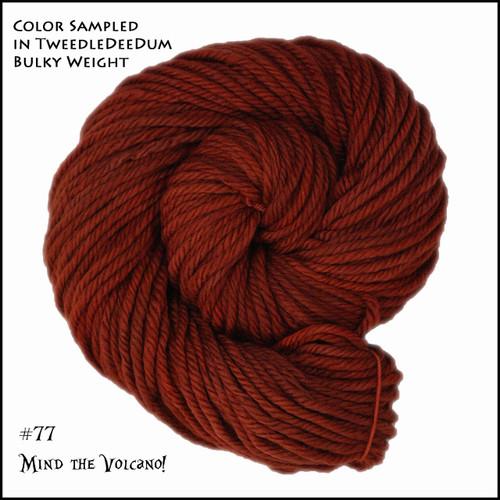 Frabjous Fibers: Wonderland Yarns - March Hare - Mine the Volcano 77