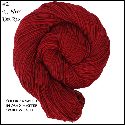 Wonderland Yarns - Cheshire Cat - Off with her Red 02