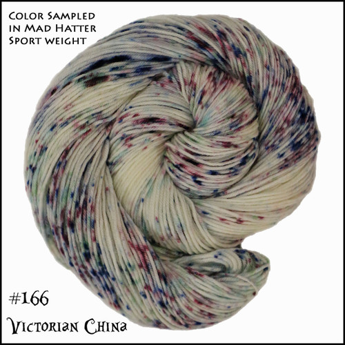 Frabjous Fiber: Wonderland Yarns - Cheshire Cat - Victorian China 166