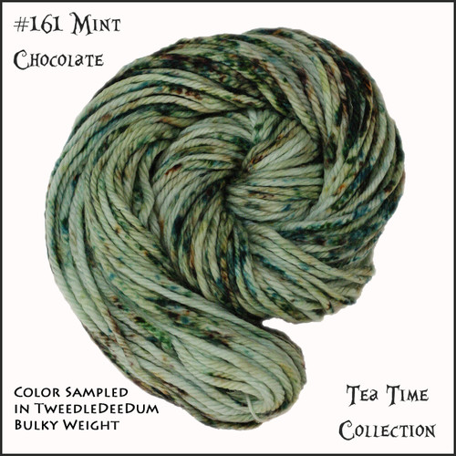 Frabjous Fibers: Wonderland Yarns - Cheshire Cat - Mint Chocolate 161