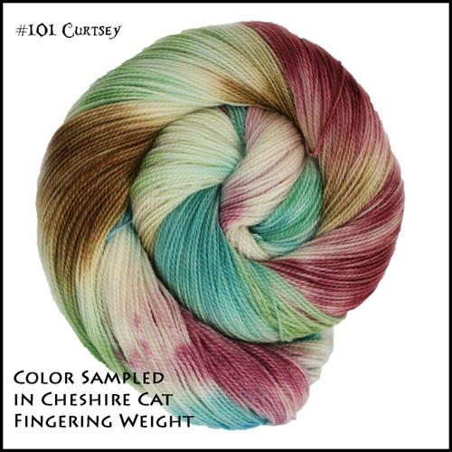 Frabjous Fibers: Wonderland Yarns - Cheshire Cat - Curtsey 101