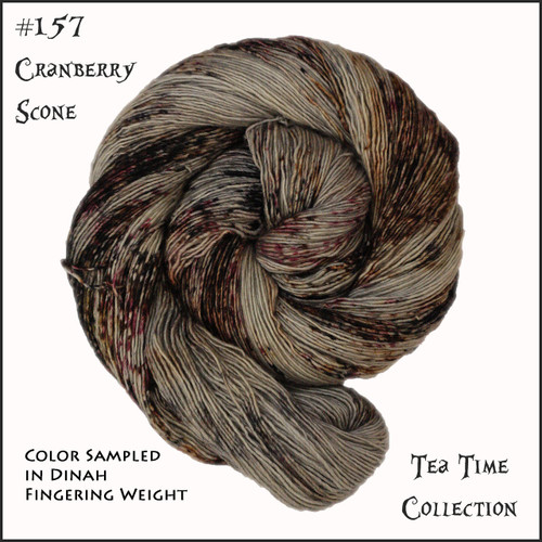 Frabjous Fibers: Wonderland Yarns - Cheshire Cat - Cranberry Scone 157