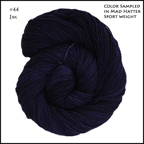 Frabjous Fibers: Wonderland Yarns - Queen of Hearts - Ink 44