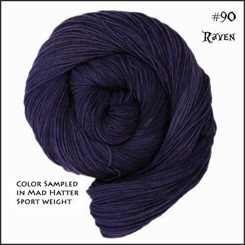 Frabjous Fibers: Wonderland Yarns - Queen of Hearts - Raven 90