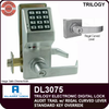 Alarm Lock Trilogy DL3075 Standalone Access Control System with Audit Trail and Regal Curved Lever | Alarm Lock DL3075