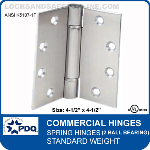 PDQ Commercial Hinges   K5107-1F - Spring Hinges (4-1/2  sc 1 st  Locksandsafes.com & Door Hinges and Door Hardware - Hinges - Spring Hinges ...