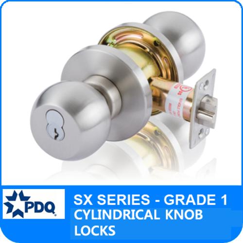 PDQ SX Series Grade 1 Cylindrical Lock | PDQ Door Knob Locks | Interchangeable Core Lock  sc 1 st  Locksandsafes.com & PDQ SX Series Cylindrical Lock | PDQ Grade 1 Cylindrical Lock