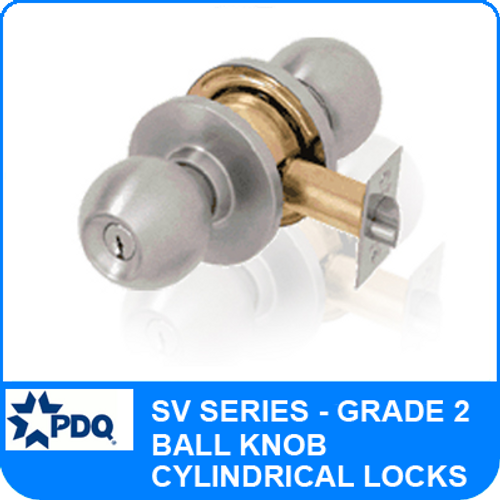 PDQ SV Series Grade 2 Lock | PDQ Door Knob Locks | PDQ SV Series