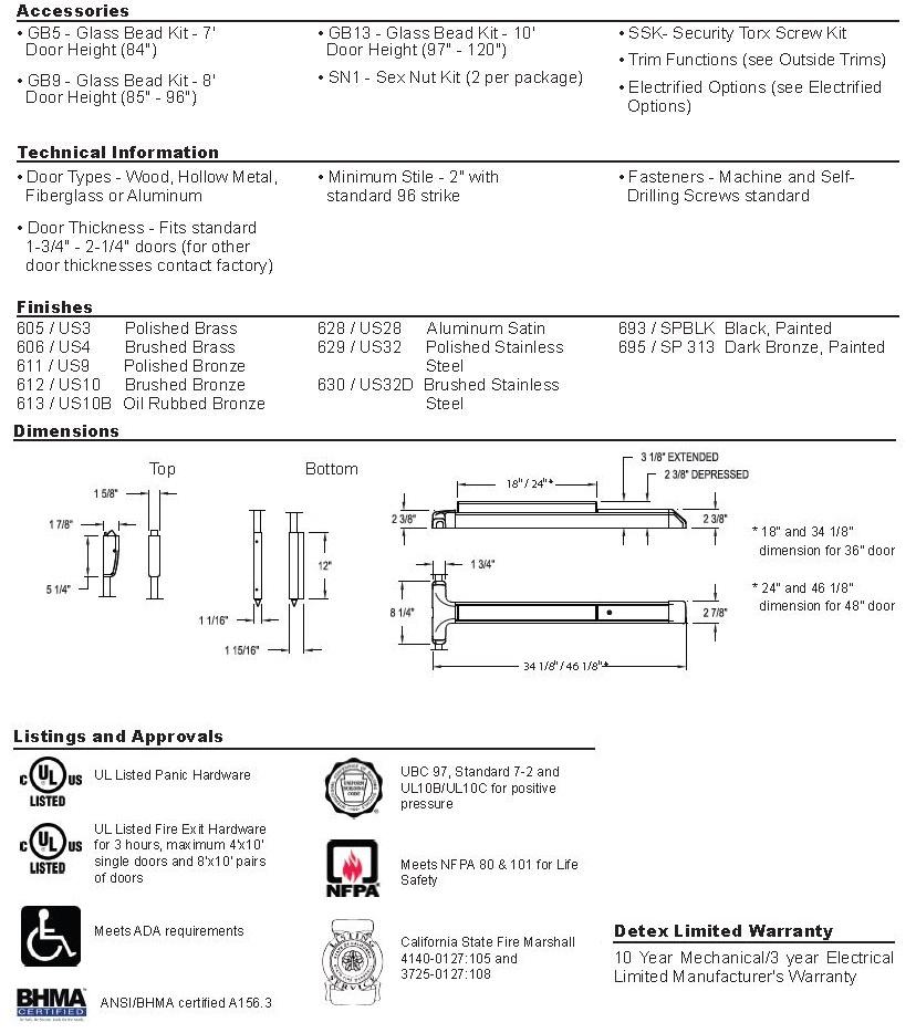 Advantex 50 Technical Info