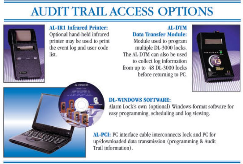 Alarm Lock DL3075WP Audit Trail Download Accessories | Alarm Lock DL3075WPIC Audit Trail Download Accessories