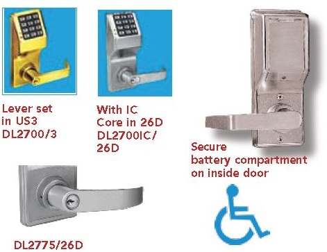 Alarm Lock DL2700 | Alarm Lock DL2700IC Interchangeable Core Lock