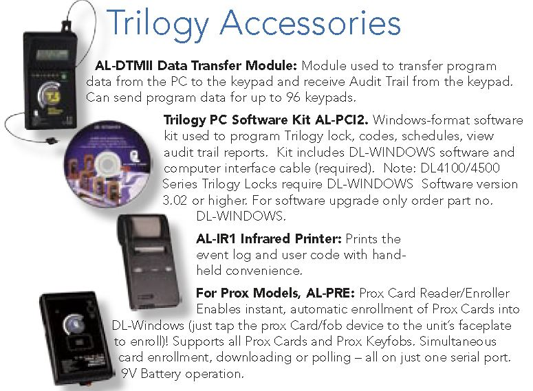 Alarm Lock DL4500DB Accessories | Alarm Lock DL4500DB Commercial Door Lock Data Transfer Accessories