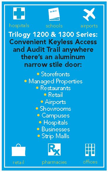 Alarm Lock DL1200ET | Alarm Lock Trilogy DL1200ET | Glass Door Lock