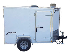 58C Cargo Trailer Hot Jetter 1140 - 37 HP, 11 GPM, 4000 PSI, 200 Gallon