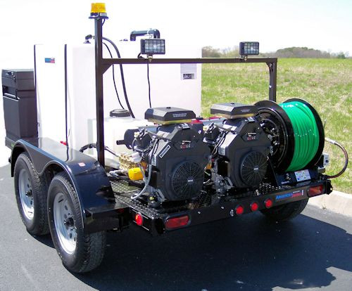 51T Series Trailer Jetter 2030 - 54 HP, 20 GPM, 3000 PSI, 330 Gallon