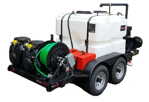 51T Series Trailer Jetter 2040 - 74 HP, 20 GPM, 4000 PSI, 600 Gallon