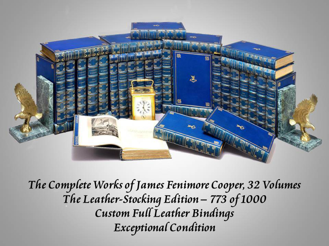 The Complete Works of James Fenimore Cooper, 32 Volumes, 1895 Limited Edition
