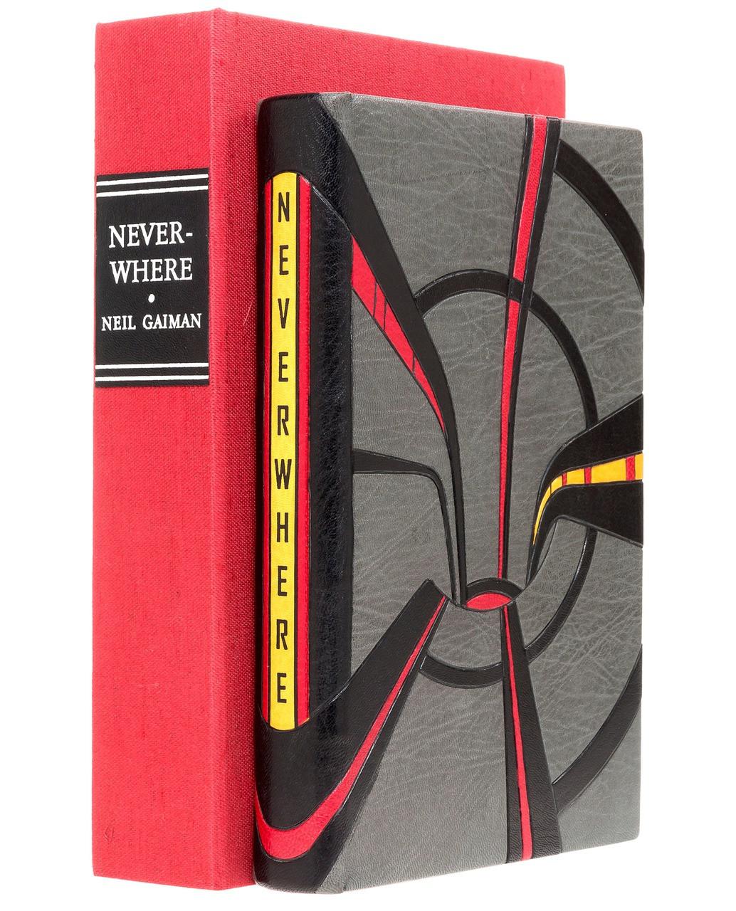 Neverwhere by Neil Gaiman, Unique Award Winning Binding by Scott Kellar