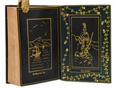 The Hudson River, 1903, Museum Quality Signed Inlaid Leather Binding
