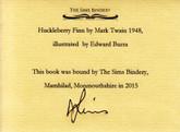 Huckleberry Finn by Mark Twain, Illustrated by Edward Burra, Sims Binding