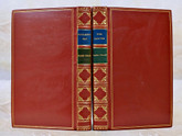 Huckleberry Finn and Tom Sawyer by Mark Twain, Signed Bayntun Bindings