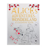 Alice's Adventures in Wonderland, Leather Bound Adult Coloring Book, New