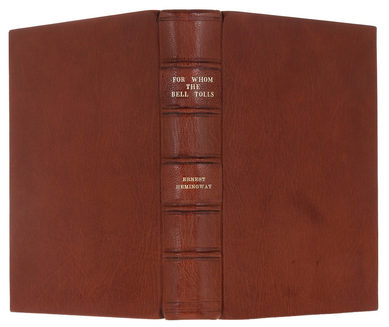 For Whom the Bell Tolls by Ernest Hemingway, 1st Edition, Custom Binding