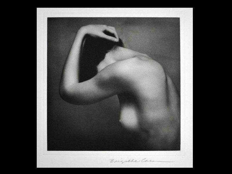 Brigitte Carnochan: Nude with Raised Arm, Signed, Custom Framed Print