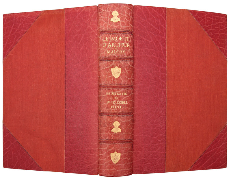 Le Morte D'Arthur, Illustrated by W. Russell Flint, 1935, Signed Banytun Binding