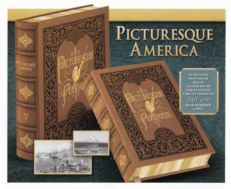 Picturesque America, 2 Volumes, Deluxe Limited Edition, New