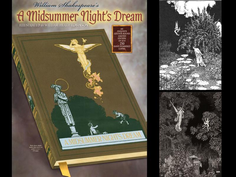 A Midsummer Night's Dream Leather Binding
