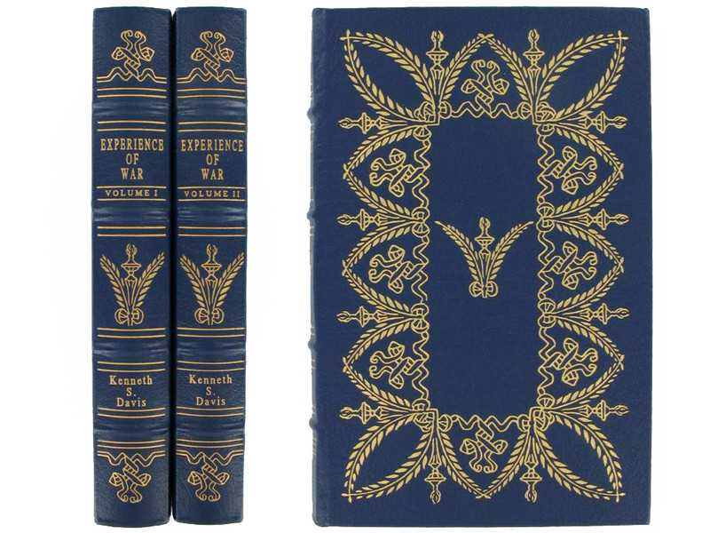 Experience of War by Kenneth S. Davis, 2 Volumes, Easton Press