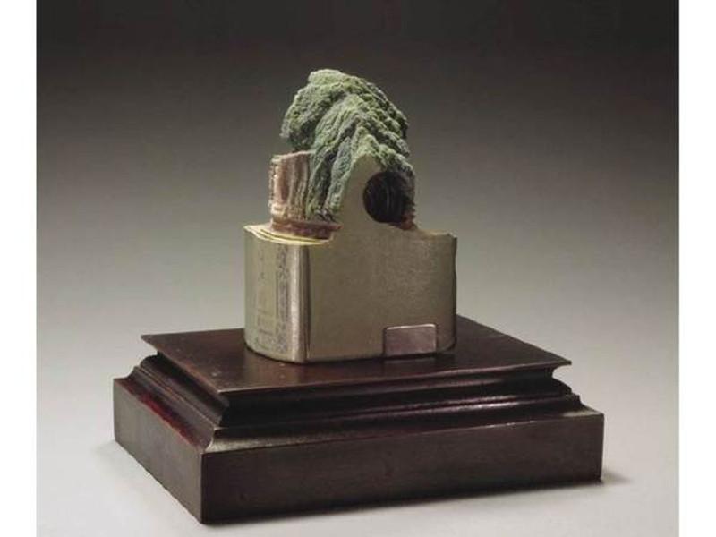 Guy Laramée: Mushroom Island, Unique Book Sculpture