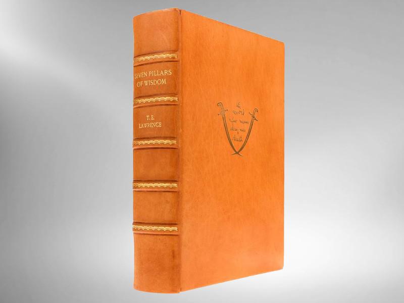 Seven Pillars of Wisdom by T.E. Lawrence, Sangorski & Zaehnsdorf Binding