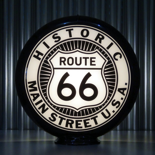 "Route 66 - 13.5"" Advertising Globe"