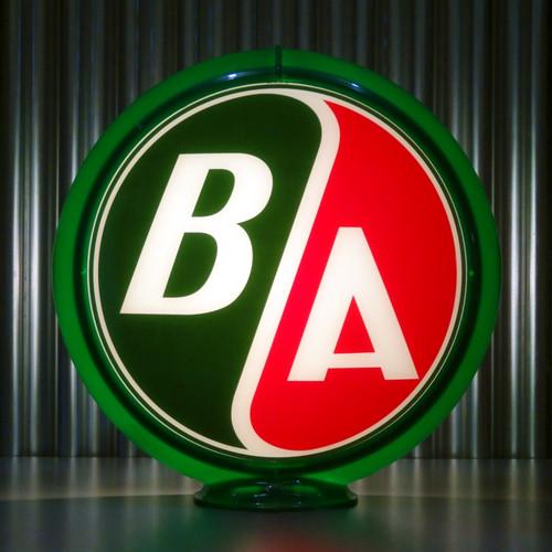 "BA British American Gasoline (Late) - 13.5"" Gas Pump Globe"