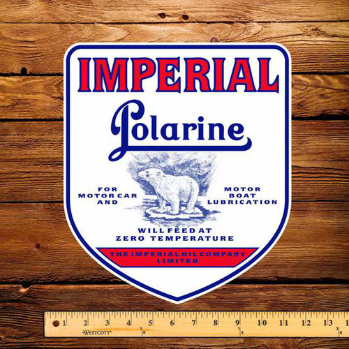 "Esso Imperial Polarine Gasoline 10.5"" x 12"" Pump Decal"