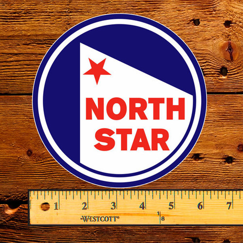 """1950's North Star Gasoline 6"""" Lubester Decal"""